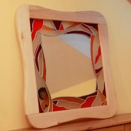 Obrázek výrobku: Vitrážové zrcadlo - MUCHA