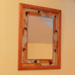 Obrázek výrobku: Vitrážové zrcadlo s efektem dvojité vitráže