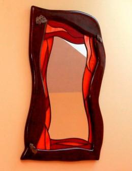 Obrázek výrobku: Vitrážové zrcadlo s českými granáty