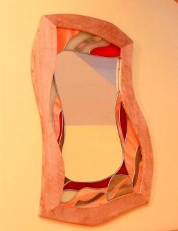Obrázek výrobku: Vitrážové zrcadlo - LOSOSOVÉ