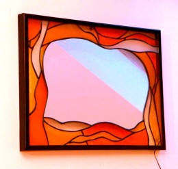Obrázek výrobku: Vitrážové rcadlo - ŽLUTÉ