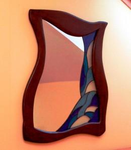 Obrázek výrobku: Vitrážové zrcadlo v atypickém rámu