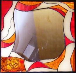 Obrázek výrobku: Vitrážové zzrcadlo s motivem anděla