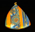 Výrobek: Modrozlatý skládaný trojúhelník