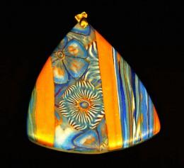Obrázek výrobku: Modrozlatý skládaný trojúhelník