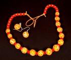 Výrobek: Oranžovožluté korálky