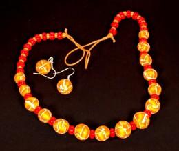 Obrázek výrobku: Oranžovožluté korálky