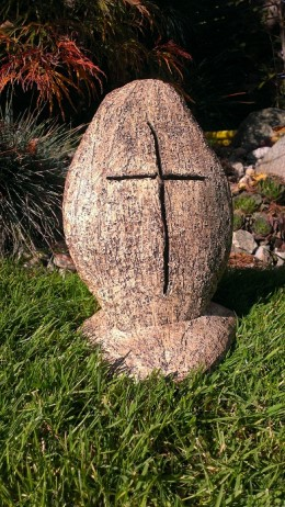 Obrázek výrobku: Kříž s podstavcem na svíčku, 23 cm
