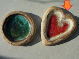 Obrázek výrobku: Svícen na čajovou svíčku s roztaveným sklem, srdce
