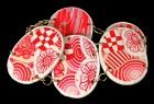 Výrobek: Růžovobílé skládané ovály - náramek