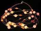 Výrobek: Růžovooranžové kytky na lankách