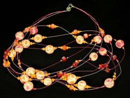 Obrázek výrobku: Růžovooranžové kytky na lankách