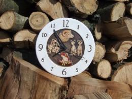 Obrázek výrobku: Nástěnné keramické hodiny - zvířata - průměr cca 22 cm