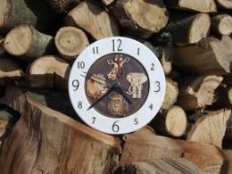 Obrázek výrobku: Nástěnné keramické hodiny5 - zvířata - průměr cca 22 cm