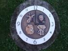 Výrobek: NNástěnné keramické hodiny7 -- zvířata - průměr cca 22 cm