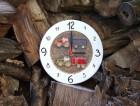 Výrobek: Závěsné keramické hodiny - dětský motiv - průměr cca 22 cm