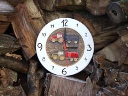 Obrázek výrobku: Závěsné keramické hodiny - dětský motiv - průměr cca 22 cm