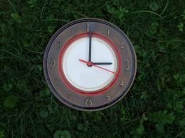 Obrázek výrobku: Nástěnné keramické hodiny7 -- průměr cca 22 cm