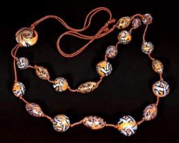 Obrázek výrobku: Stříbrnohnědé korále