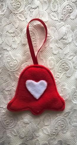 Obrázek výrobku: Vánoční ozdoba - zvonek se srdíčkem
