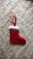 973f5fc7cd3 Vánoční ozdoba - ponožka