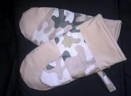 Obrázek výrobku: Nekované hadrové originální grilovací rukavice - maskáčovina