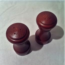 Obrázek výrobku: Dřevěná slánka a pepřenka - 10 cm tmavé