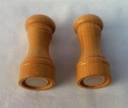 Obrázek výrobku: Dřevěná slánka a pepřenka - 10 cm