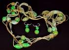 Výrobek: Zlatozelené korále se ztužkou