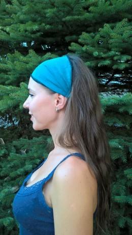 Obrázek výrobku: Látková čelenka - modrozelená