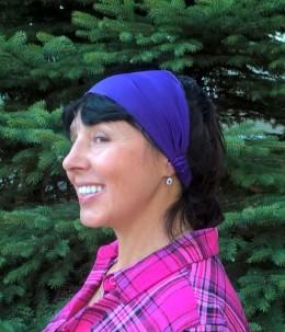 Obrázek výrobku: Látková čelenka - modrá - univerzální