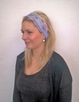 Obrázek výrobku: Látková čelenka - fialková - univerzální