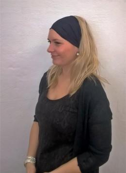 Obrázek výrobku: Látková čelenka - tmavě modrá - univerzální