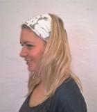 Výrobek: Látková čelenka - bílá krajková - univerzální