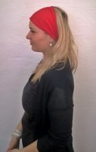 Výrobek: Látková čelenka - červená - univerzální