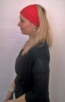 Obrázek výrobku: Látková čelenka - červená - univerzální