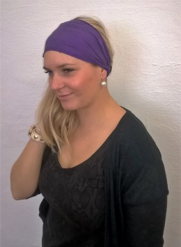Obrázek výrobku: Látková čelenka - fialová - univerzální
