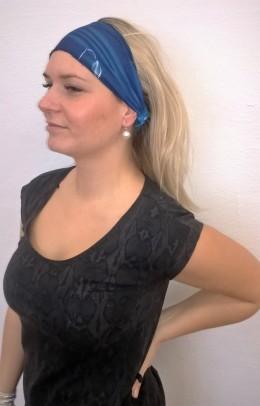 Obrázek výrobku: Látková čelenka - tmavě modrý melír - univerzální
