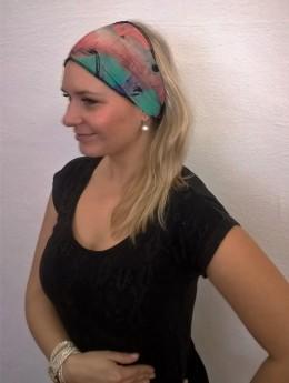 Obrázek výrobku: Látková čelenka - barevná batika - univerzální