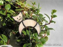 Obrázek výrobku: Kočka se ježí? - zápich (světle růžová)
