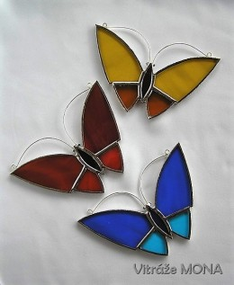 Obrázek výrobku: Motýl se žluto - červenými křídly