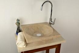 Obrázek výrobku: Kamenné umyvadlo - leštěný mramor SALERNO