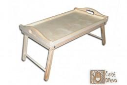 Obrázek výrobku: Dřevěný servírovací stolek do postele 50x30 cm - nelakovaný