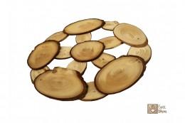 Obrázek výrobku: Podložka pod hrnec z modřínu