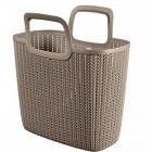Výrobek: Nákupní taška KNIT - hnědá
