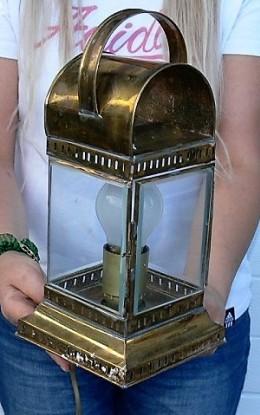 Obrázek výrobku: Lodní elektrická mosazná lampa