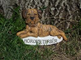 Obrázek výrobku: Cedulka s border teriérem a s nápisem