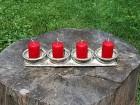 Výrobek: Adventní svícen na čtyři svíčky 3
