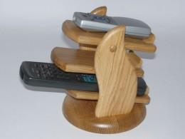 Obrázek výrobku: Třípatrový stojan na dálkové ovládače-přírodní dub