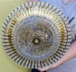 Obrázek výrobku: Mosazná stropnice zdobená kamínky